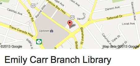 Emily Carr library map