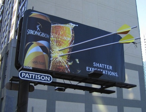 Beer company advertises on Pattison Outdoor billboard