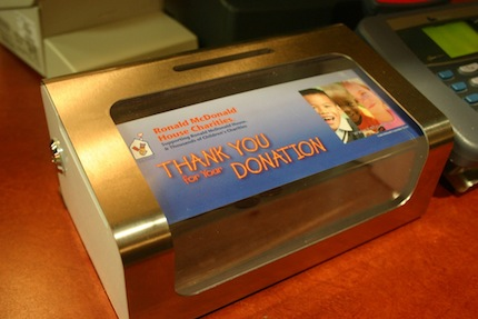 McDonalds Donation Box