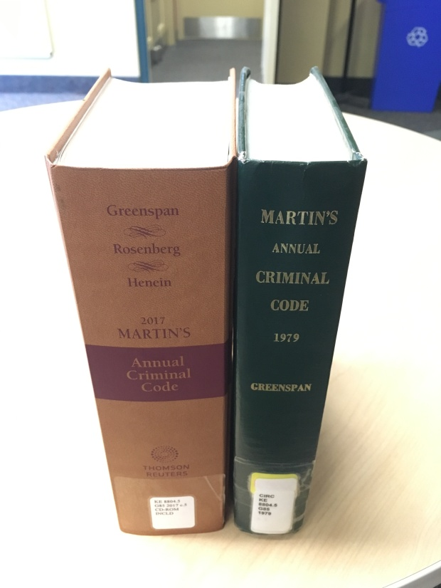 Criminal Code from 2017 vs 1979